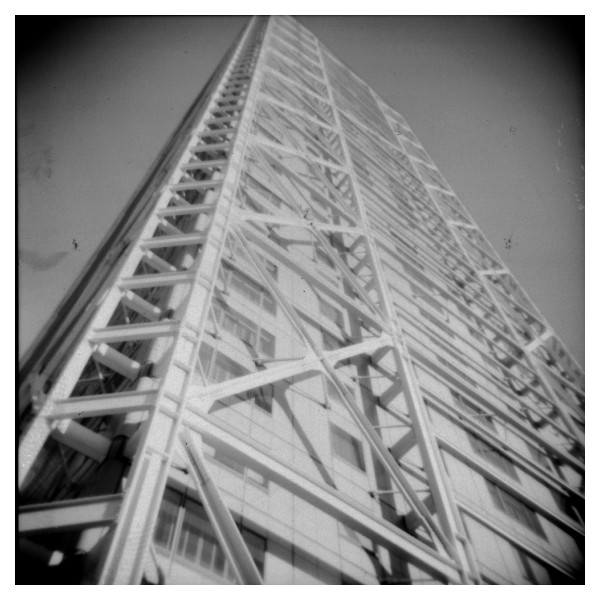 The Barcelona hotel Arts taken with a Holga camera