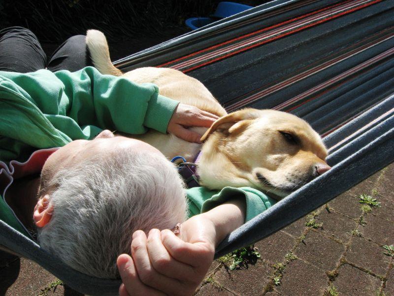 In teh hammock