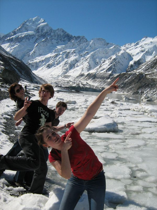 Chillin' by the Hooker Glacier.