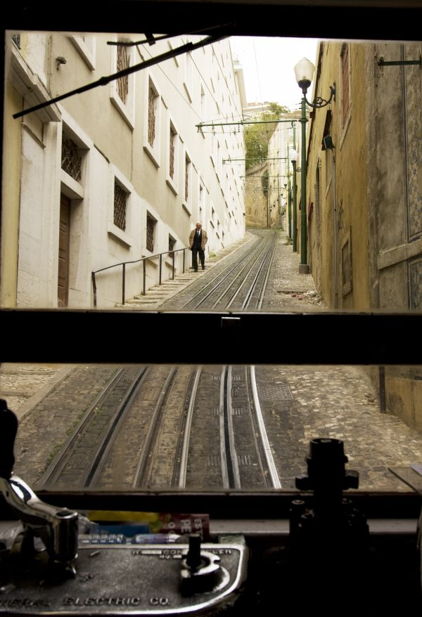 From the inside of the funicular