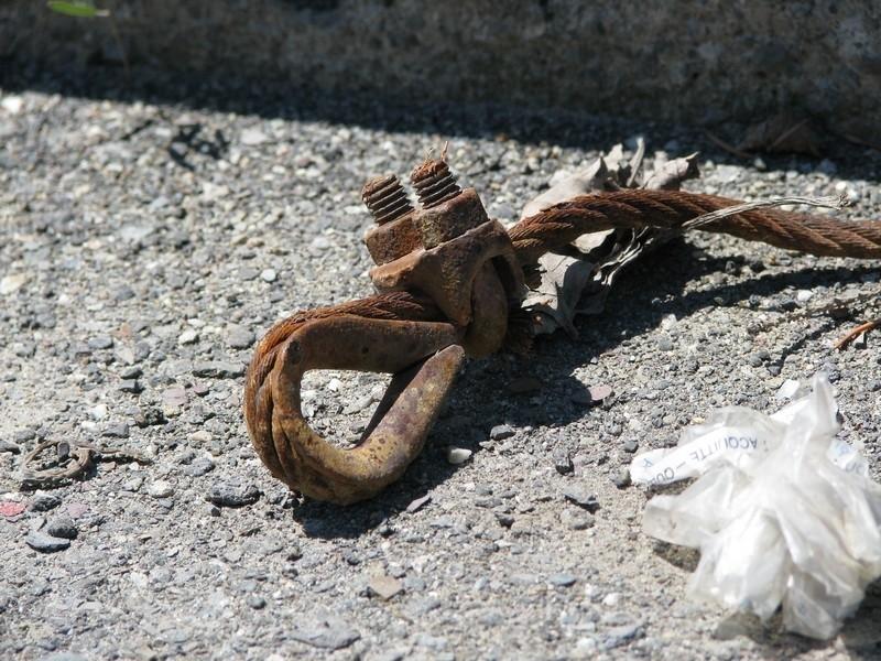Une corde rouillé