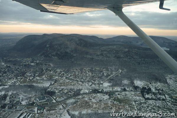 Le mont St-Hilaire / vol d'hiver