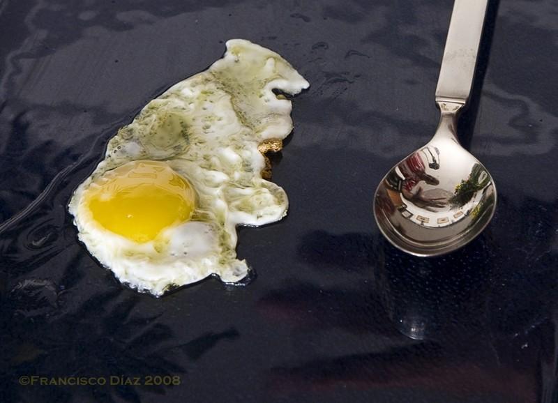 Huevo frito y ¡hola!