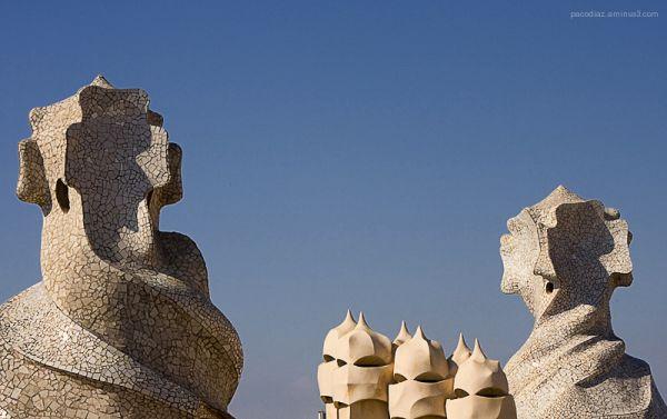 Gaudí: Casa Milà. Detalle de la terraza