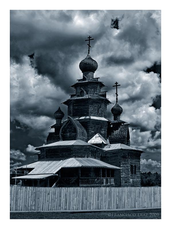 Catedral de madera, Rusia.