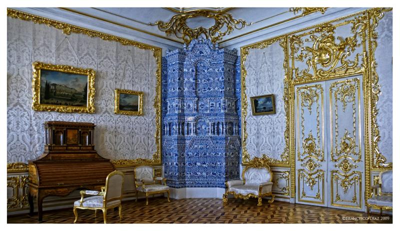 Salón en el palacio del zar Pedro