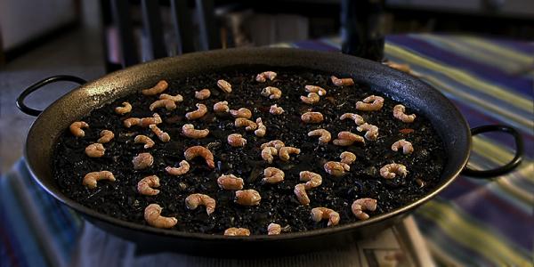 Paella. Arroz Negro
