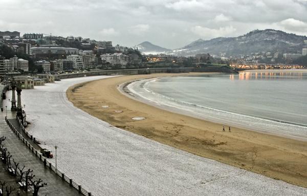 Nieve en La Concha