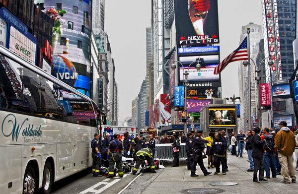 Accidente en Times Square