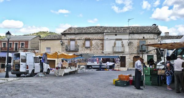 Mercado en la plaza
