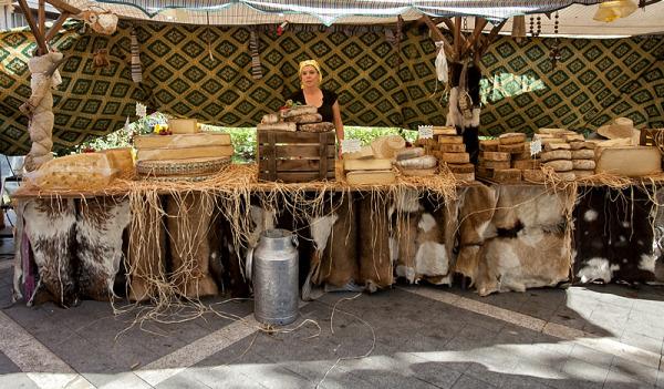 La vendedora de quesos