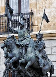 M. Benlliure, Homenaje al Regimiento Alcántara