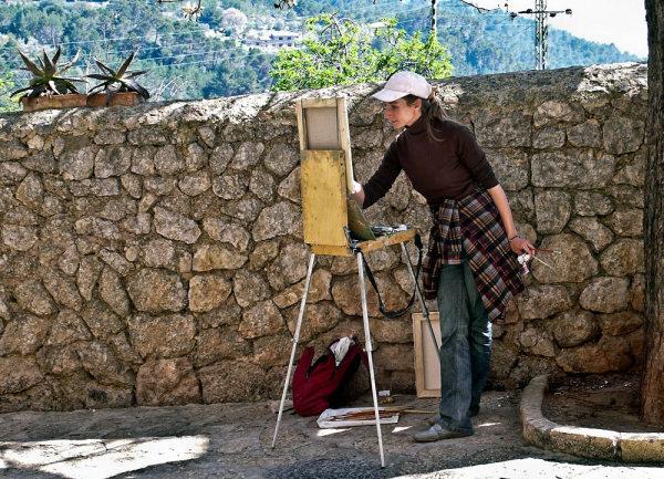 Pintando en Valledemossa