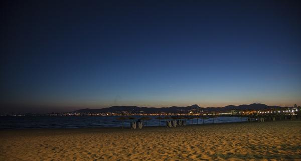 Anochecer en la playa de Palma