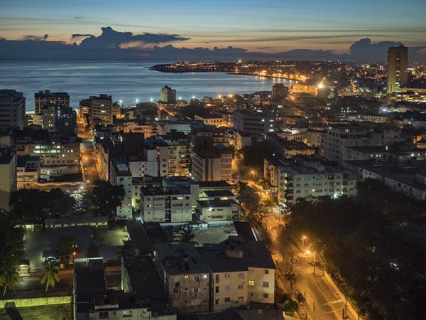 Anochecer en La Habana