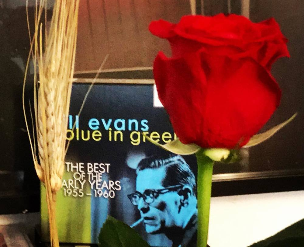 Bill Evans and a rose