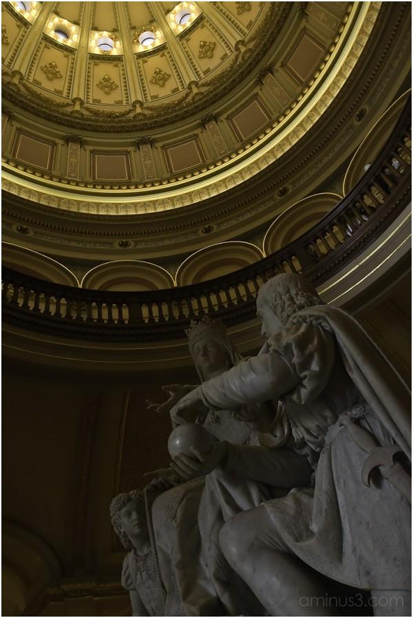 Inside the Capitol Building in Sacramento, CA
