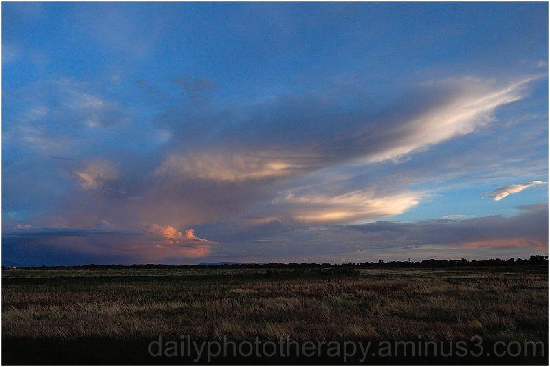 Sun set clouds sky