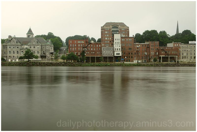 Kennebec River in Downtown Augusta Maine