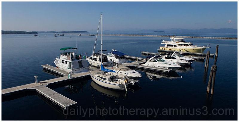 Boats on Lake Champlain