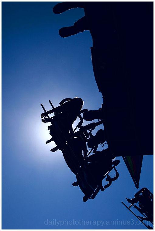 Afternoon sun on ride at Tunbridge World