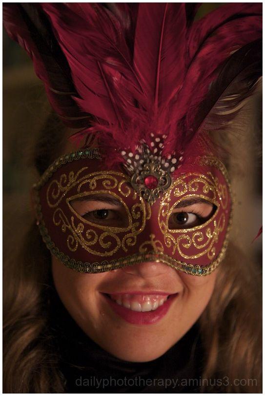 Red Venetian Opera Mask