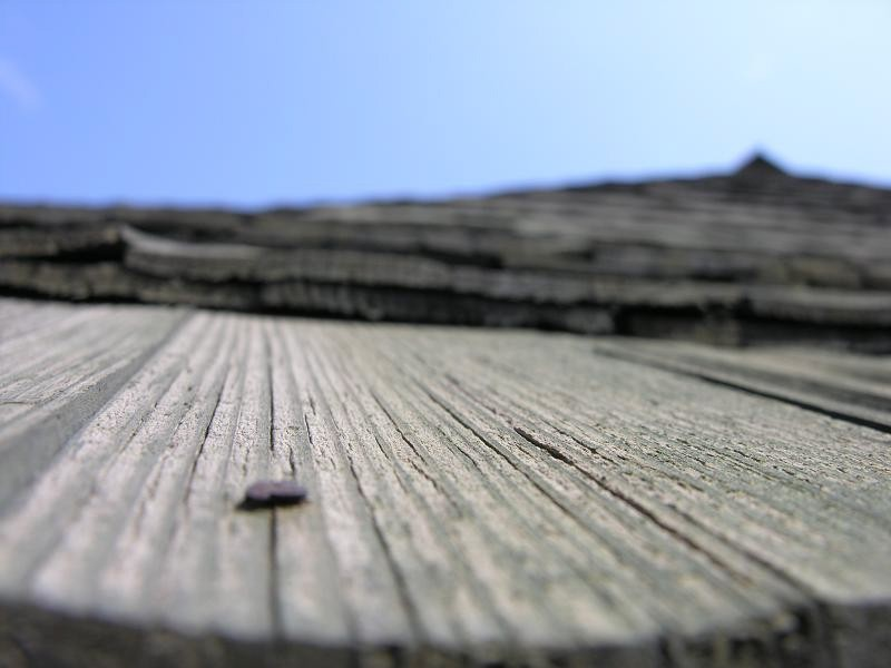 old wood roof tiles