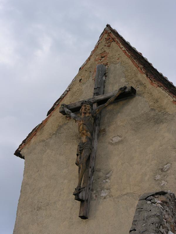 Wood sculpture crucifix