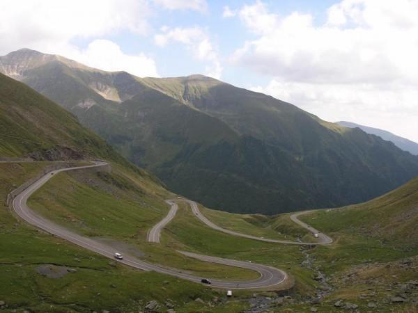 A view over the Transfagarasan Road, Romania