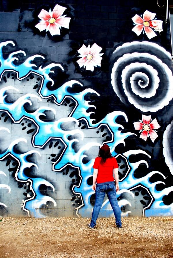 A huge graffiti mural I found downtown