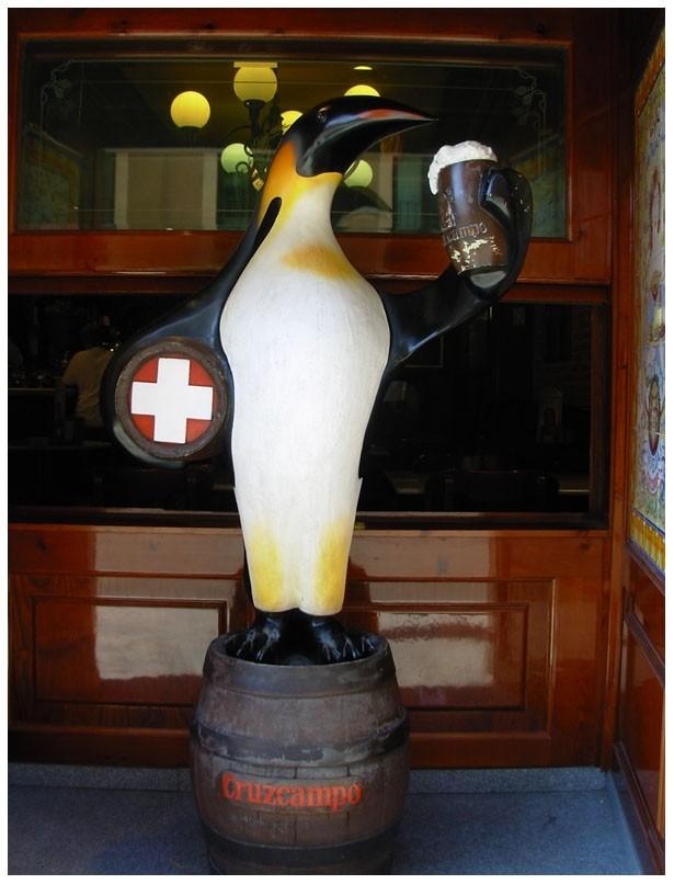 Pingüino bebedor