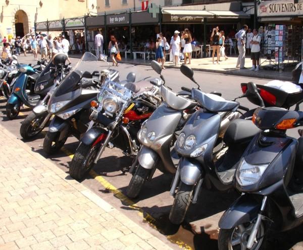 motor bikes, street