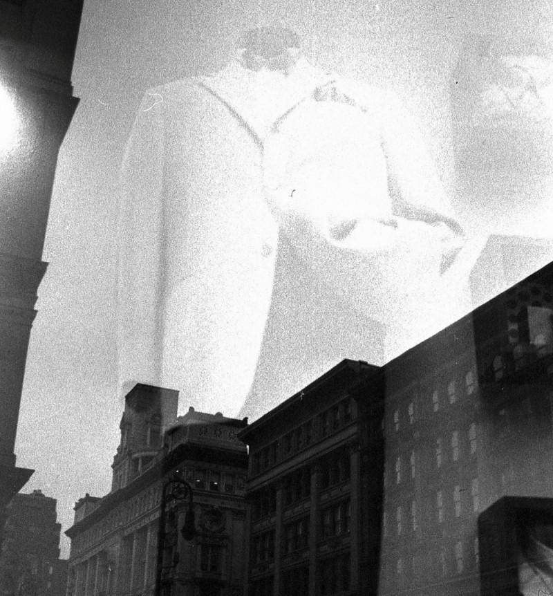 suit in a new york shop window in chelsea