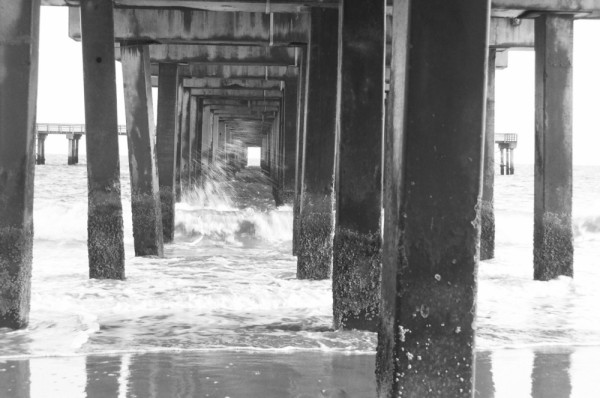 Under the pier at coney island