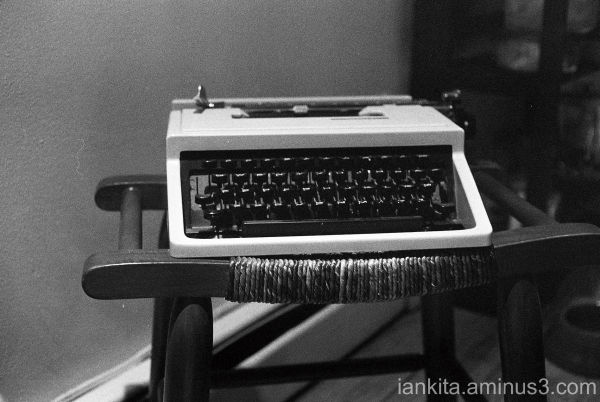 still life of old typewriter