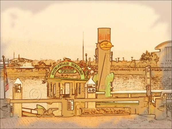 savannah belles ferry on river st savannah ga