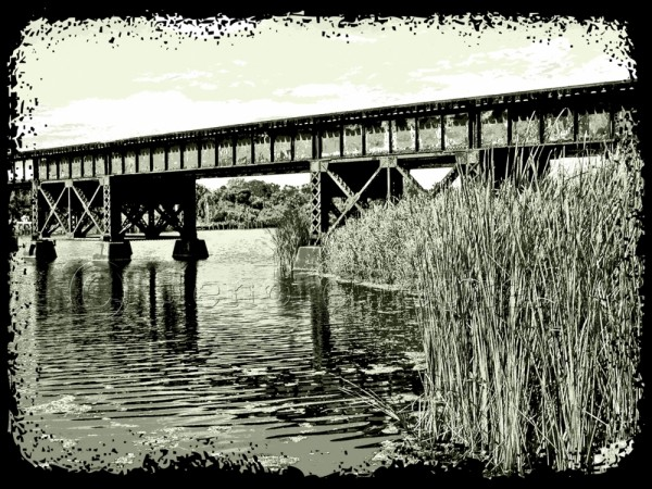 railway bridge in Melbourne, Florida