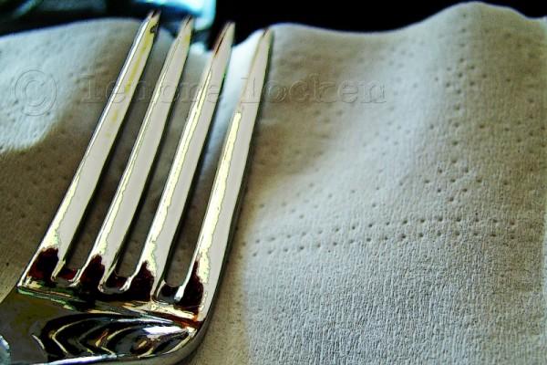 fork on napkin in toronto thai restaurant