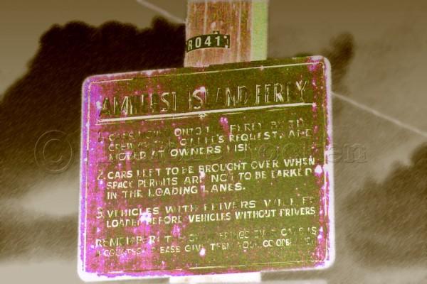 amherst island ferry sign