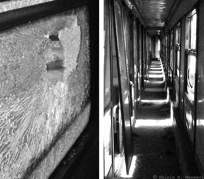 train abandoned broken corridor shirin moosavi