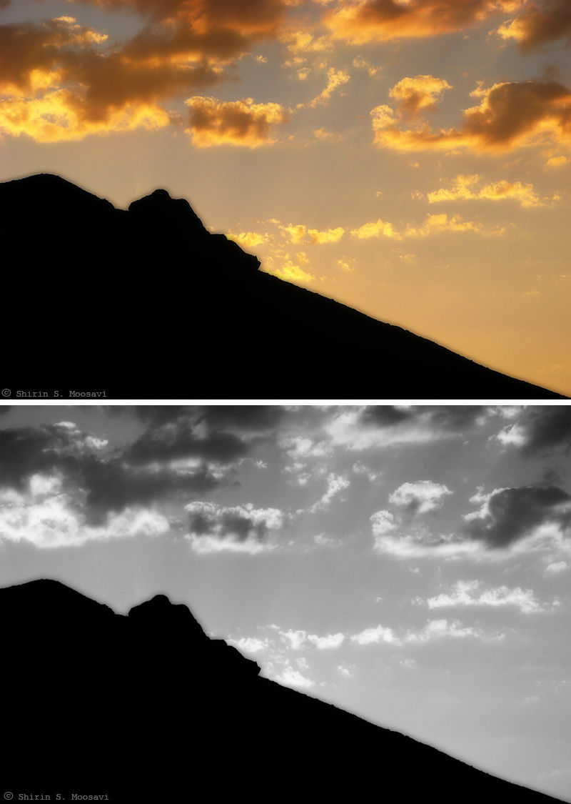 silhouette,sunset,cloud,mountain,shirin moosavi