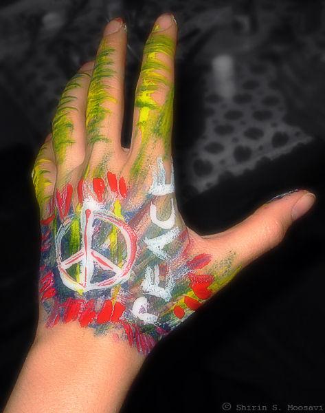 peace, norooz, hand-painting, shirin moosavi