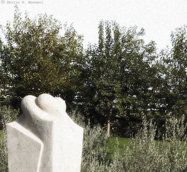statue, grain, love, tree, shirin moosavi