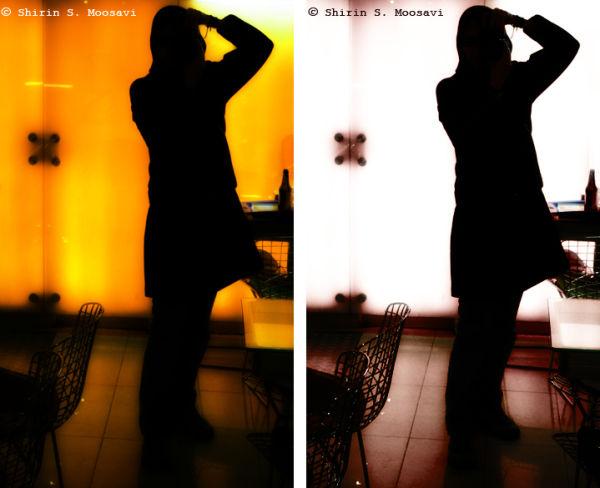me mirror reflection silhouette shirin moosavi