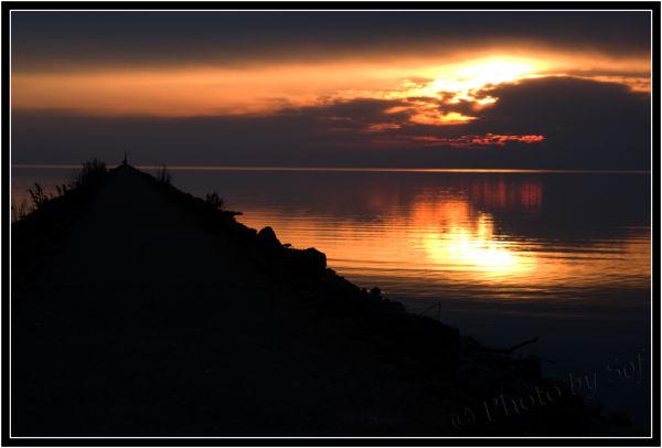 Soir de janvier sur le lac