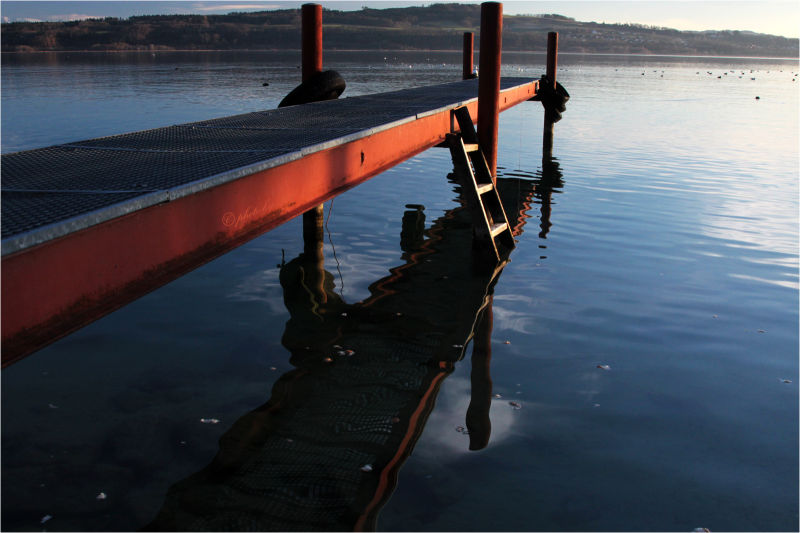 ponton, lac