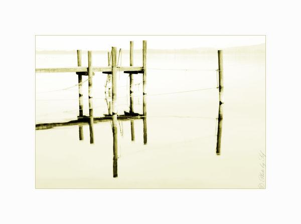 Ponton sur le lac de Bienne