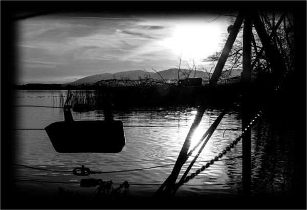 Terrasse sur lac