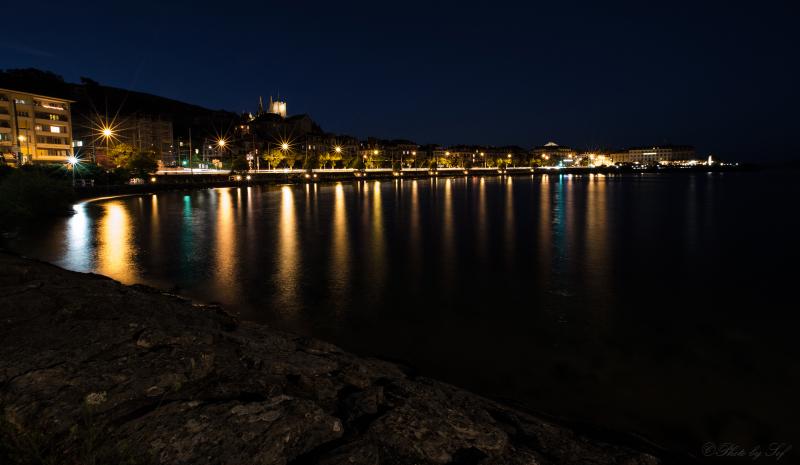 Neuchâtel, Neuchâtel de nuit, Neuchâtel by night