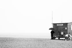 plage, Manche, pluie